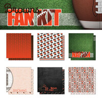 Scrapbook Customs - Football Fan Collection - 12 x 12 Collection Kit - Browns
