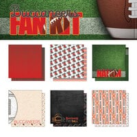 Scrapbook Customs - Football Fan Collection - 12 x 12 Collection Kit - Buccaneers