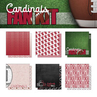 Scrapbook Customs - Football Fan Collection - 12 x 12 Collection Kit - Cardinals