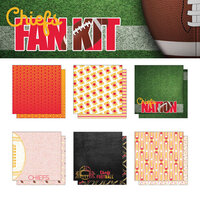 Scrapbook Customs - Football Fan Collection - 12 x 12 Collection Kit - Chiefs