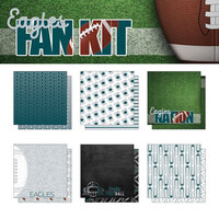 Scrapbook Customs - Football Fan Collection - 12 x 12 Collection Kit - Eagles