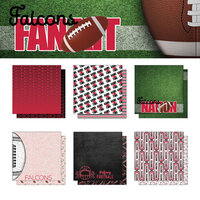 Scrapbook Customs - Football Fan Collection - 12 x 12 Collection Kit - Falcons
