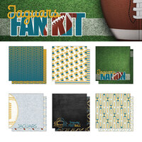 Scrapbook Customs - Football Fan Collection - 12 x 12 Collection Kit - Jaguars