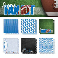 Scrapbook Customs - Football Fan Collection - 12 x 12 Collection Kit - Lions