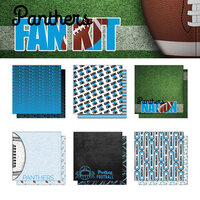 Scrapbook Customs - Football Fan Collection - 12 x 12 Collection Kit - Panthers