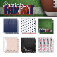 Scrapbook Customs - Football Fan Collection - 12 x 12 Collection Kit - Patriots