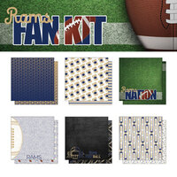 Scrapbook Customs - Football Fan Collection - 12 x 12 Collection Kit - Rams