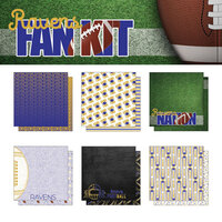 Scrapbook Customs - Football Fan Collection - 12 x 12 Collection Kit - Ravens