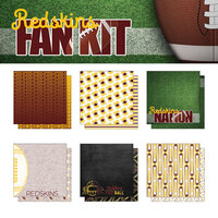 Scrapbook Customs - Football Fan Collection - 12 x 12 Collection Kit - Redskins