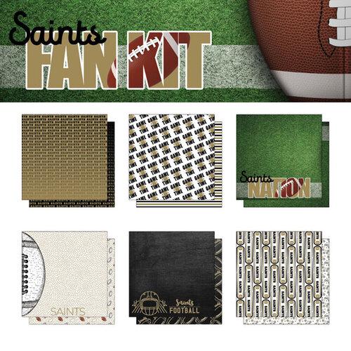 Scrapbook Customs - Football Fan Collection - 12 x 12 Collection Kit - Saints