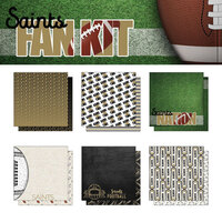 Scrapbook Customs - Football Fan Collection - 12 x 12 Collection Kit - Saints