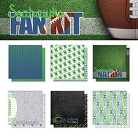 Scrapbook Customs - Football Fan Collection - 12 x 12 Collection Kit - Seahawks