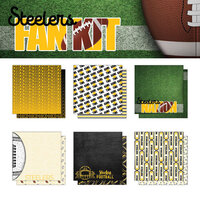 Scrapbook Customs - Football Fan Collection - 12 x 12 Collection Kit - Steelers