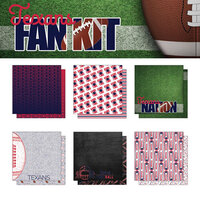 Scrapbook Customs - Football Fan Collection - 12 x 12 Collection Kit - Texans