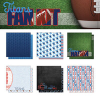 Scrapbook Customs - Football Fan Collection - 12 x 12 Collection Kit - Titans