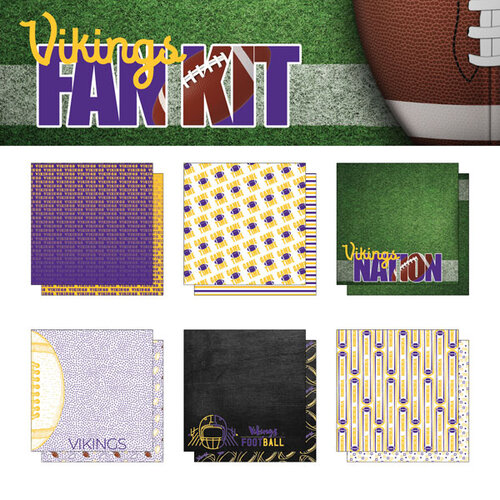 Scrapbook Customs - Football Fan Collection - 12 x 12 Collection Kit - Vikings