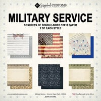 Scrapbook Customs - Military Collection - 12 x 12 Paper Pack