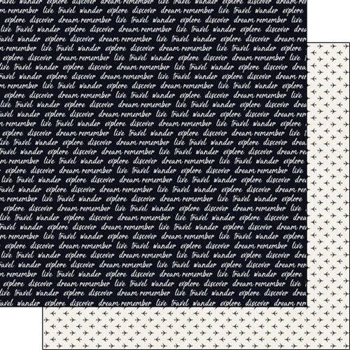 Scrapbook Customs - 12 x 12 Double Sided Paper - Travel, Explore and Tiny Planes
