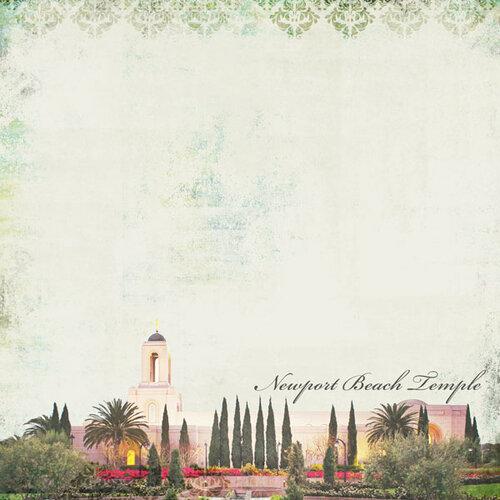 Scrapbook Customs - 12 x 12 Paper - Newport Beach CA - Temple Elegance