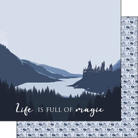 Scrapbook Customs - Inspired By Collection - 12 x12 Double Sided Paper - Life is Full of Magic