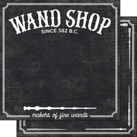 Scrapbook Customs - Inspired By Collection - 12 x12 Double Sided Paper - Wand Shop