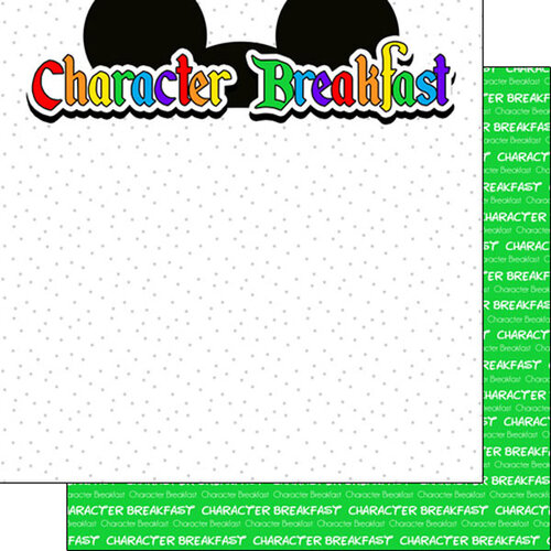 Scrapbook Customs - Inspired By Collection - 12 x12 Double Sided Paper - Character Breakfast