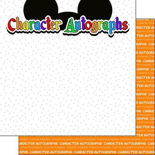 Scrapbook Customs - Inspired By Collection - 12 x12 Double Sided Paper - Character Autographs