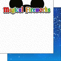 Scrapbook Customs - Inspired By Collection - 12 x12 Double Sided Paper - Magical Fireworks