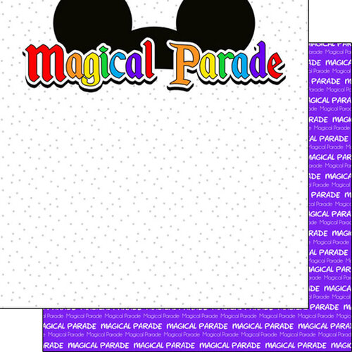 Scrapbook Customs - Inspired By Collection - 12 x12 Double Sided Paper - Magical Parade