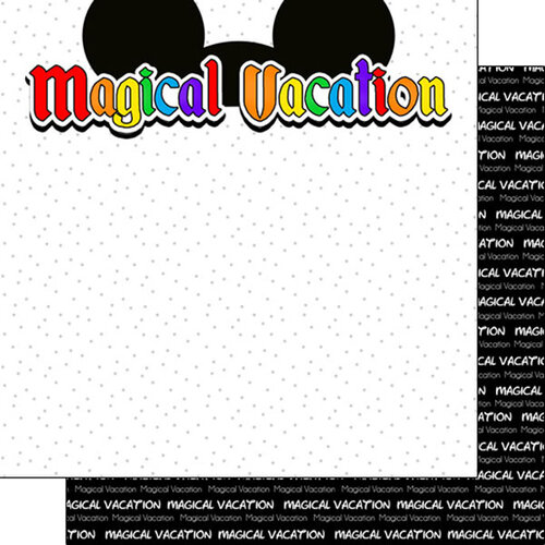 Scrapbook Customs - Inspired By Collection - 12 x12 Double Sided Paper - Magical Vacation