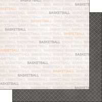 Scrapbook Customs - Sports Addict Collection - 12 x 12 Double Sided Paper - Basketball Addict 1