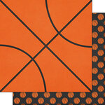 Scrapbook Customs - Sports Addict Collection - 12 x 12 Double Sided Paper - Basketball Addict 2