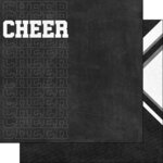 Scrapbook Customs - Sports Addict Collection - 12 x 12 Double Sided Paper - Cheerleading Addict 2