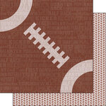 Scrapbook Customs - Sports Addict Collection - 12 x 12 Double Sided Paper - Football Addict 2