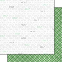 Scrapbook Customs - Sports Addict Collection - 12 x 12 Double Sided Paper - Golf Addict 1