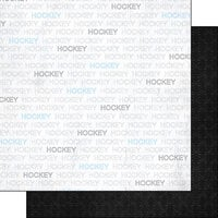 Scrapbook Customs - Sports Addict Collection - 12 x 12 Double Sided Paper - Hockey Addict 1