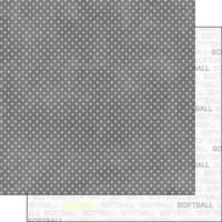 Scrapbook Customs - Sports Addict Collection - 12 x 12 Double Sided Paper - Softball Addict 1