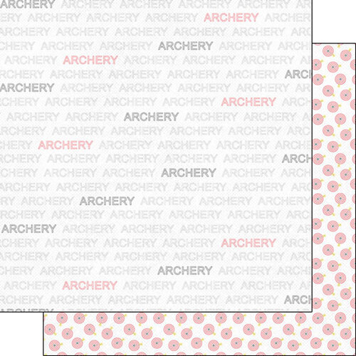 Scrapbook Customs - Sports Addict Collection - 12 x 12 Double Sided Paper - Archery Addict 1