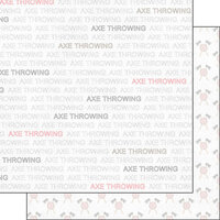 Scrapbook Customs - Sports Addict Collection - 12 x 12 Double Sided Paper - Axe Throwing Addict 1