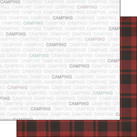 Scrapbook Customs - Sports Addict Collection - 12 x 12 Double Sided Paper - Camping Addict 1