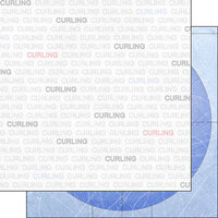 Scrapbook Customs - Sports Addict Collection - 12 x 12 Double Sided Paper - Curling Addict 1
