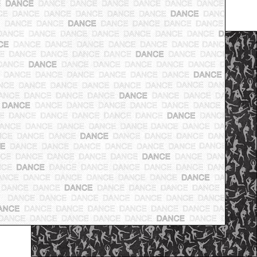 Scrapbook Customs - Sports Addict Collection - 12 x 12 Double Sided Paper - Dance Addict 1