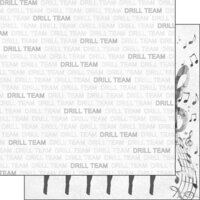 Scrapbook Customs - Sports Addict Collection - 12 x 12 Double Sided Paper - Drill Team Addict 1