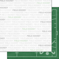 Scrapbook Customs - Sports Addict Collection - 12 x 12 Double Sided Paper - Field Hockey Addict 1