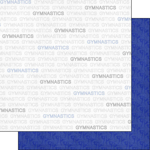 Scrapbook Customs - Sports Addict Collection - 12 x 12 Double Sided Paper - Gymnastics Addict 1