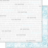 Scrapbook Customs - Sports Addict Collection - 12 x 12 Double Sided Paper - Ice Skating Addict 1