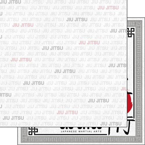 Scrapbook Customs - Sports Addict Collection - 12 x 12 Double Sided Paper - Jiu Jitsu Addict 1
