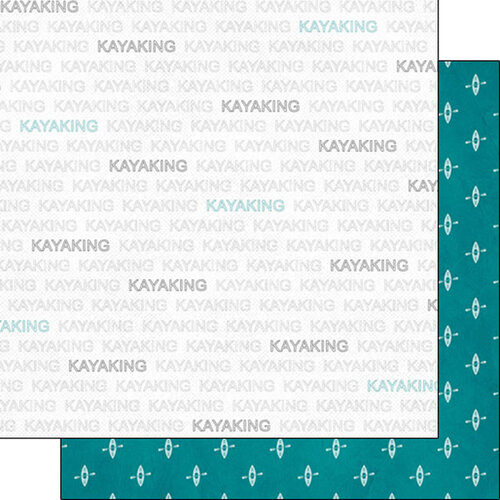 Scrapbook Customs - Sports Addict Collection - 12 x 12 Double Sided Paper - Kayaking Addict 1