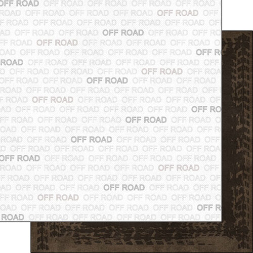 Scrapbook Customs - Sports Addict Collection - 12 x 12 Double Sided Paper - Off Roading Addict 1