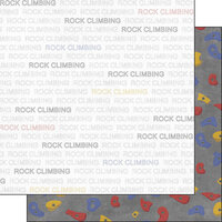 Scrapbook Customs - Sports Addict Collection - 12 x 12 Double Sided Paper - Rock Climbing Addict 1